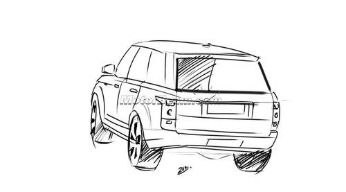 越野车手绘图片