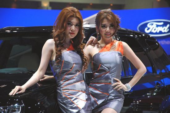 组图曼谷车展美女如云一起来看异域风情2