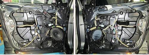 马自达8音响升级 实现三分频喇叭