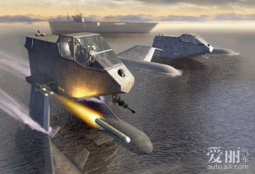 似车似船似飞机 美军幽灵隐形超音速快艇