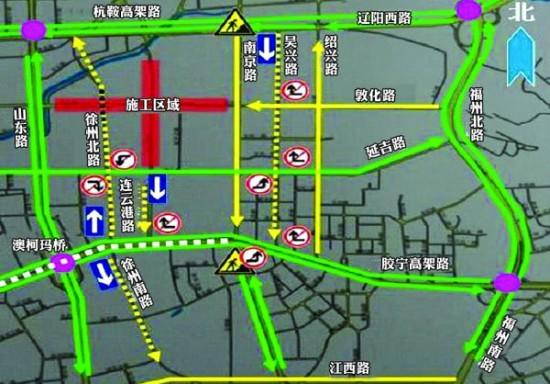 青岛市区新增6条单行线