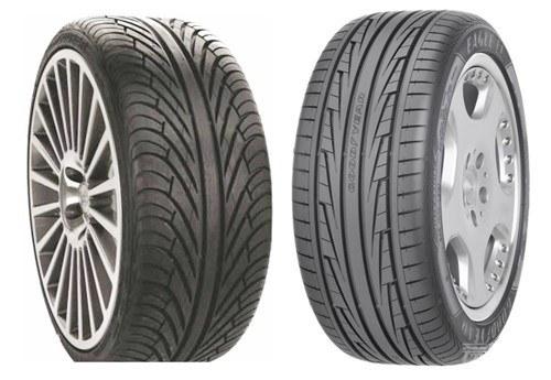 不对称花纹的轮胎在包含单导向花纹轮胎优势的