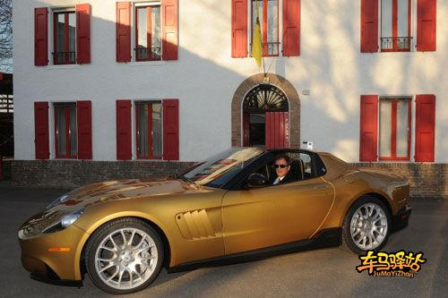 【全文】:法拉利发布金色敞篷跑车p540