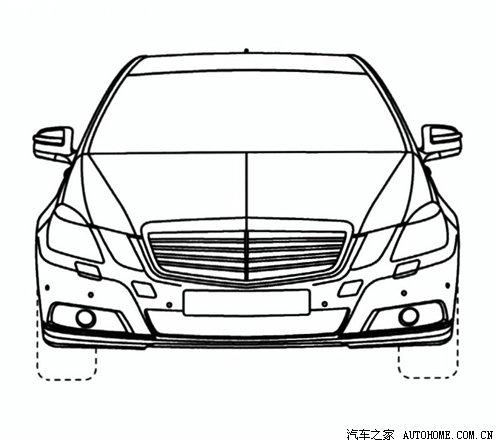 定位豪华车 奔驰新e级加长版设计图曝光